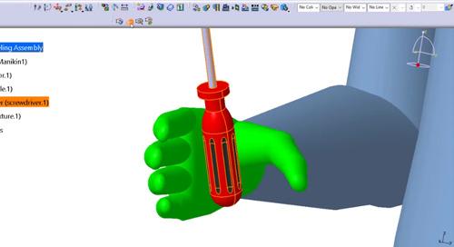 Executing a Manikin Hand Grasp in CATIA V5