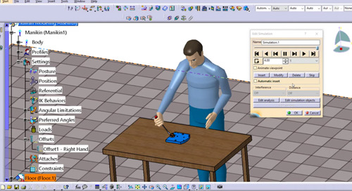 Creating a Manikin Simulation in CATIA V5