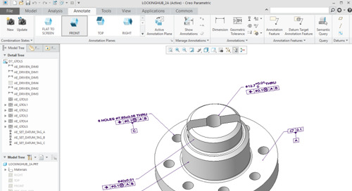 Tips for Implementing MBD with Creo Parametric