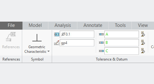 Updating Set Datums to Datum Feature Symbols in Creo Parametric 4.0