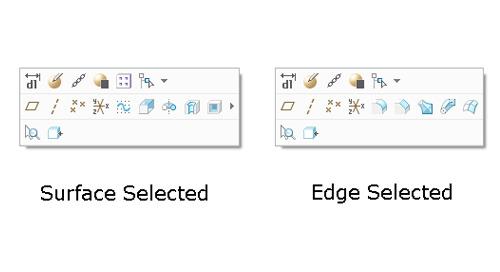 Creo Parametric 3.0 to 4.0 Update: Ease of Use and Efficiency with the Mini Toolbar