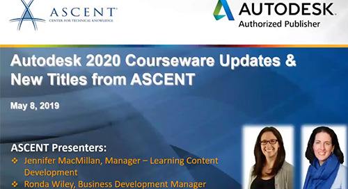 ASCENT Courseware Update - Follow up to the Webcast