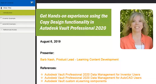 Hands-on Copy Design Functionality in Vault 2020! Webcast Follow-up