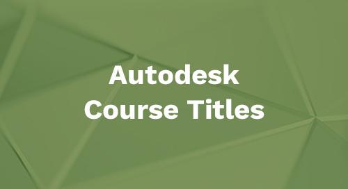 Autodesk 2019 Course Titles