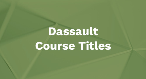 Dassault Systemes Course Titles