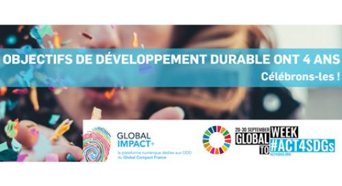 Les Objectifs de Développement Durable ont 4 ans !