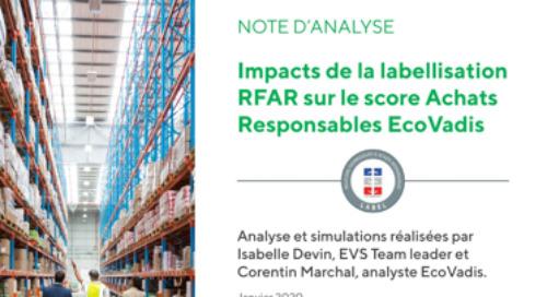 Impacts du label «Relations Fournisseurs et Achats Responsables» (RFAR) sur le score achats responsables EcoVadis