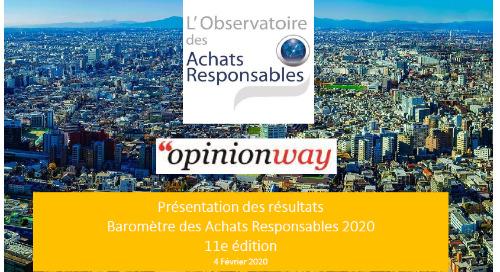 11eme Baromètre achats responsables ObsAR : focus achats publics