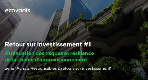 Retour sur investissement #1 : risques et résilience
