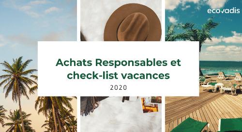 Achats Responsables et check-list vacances