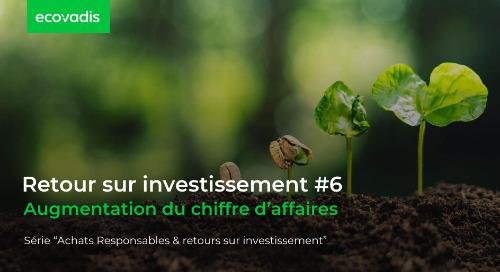 Retour sur investissement #6 : Augmentation du chiffre d'affaires