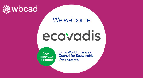 EcoVadis rejoint le World Business Council for Sustainable Development (WBCSD) pour aider les entreprises à réduire les émissions indirectes
