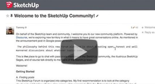 Let's have a discourse about SketchUp