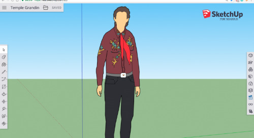 Temple Grandin's new home in SketchUp for Schools