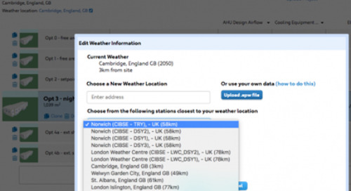 CIBSE Design Summer Year and Test Reference Year Weather Data Now Available in Trimble's Sefaira Building Analysis Software