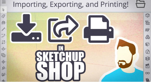 Importing and exporting in SketchUp Shop