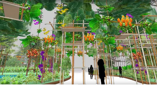 SketchUp: Miracle grow for the Philadelphia Flower Show