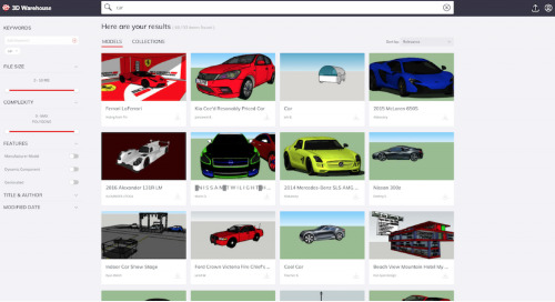 A fresh look for 3D Warehouse search