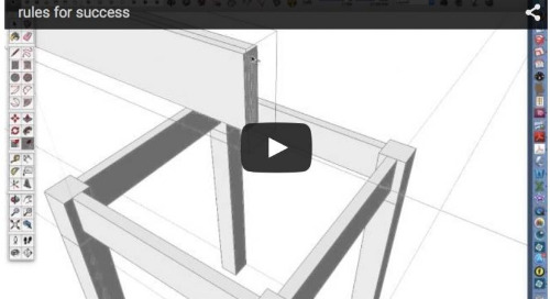 Six rules for success for SketchUp beginners