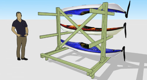 Staying afloat: a quick SketchUp boat rack
