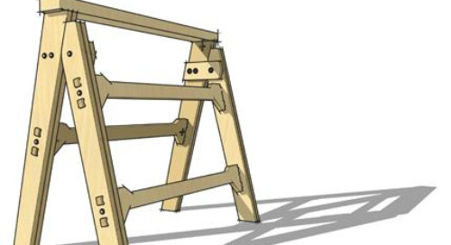 Get Started with CNC: A SketchUp Sawhorse