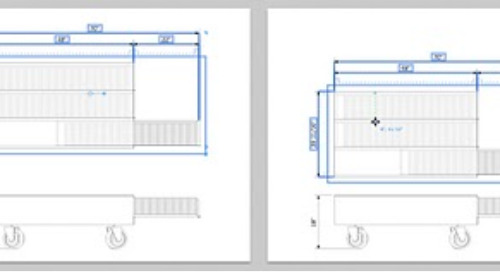 Moving dimensioned model views in LayOut