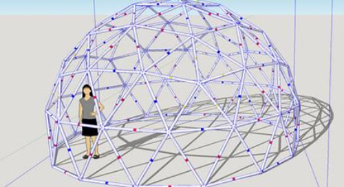 Building a PVC geodesic dome with SketchUp