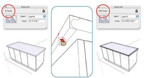 Speed Up SketchUp: Extrude curves with fewer sides