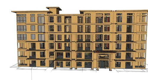 Creating the 3D constructible model for a six-story, wood-framed building