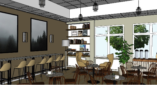 Revamping a local coffee shop using 3D modeling