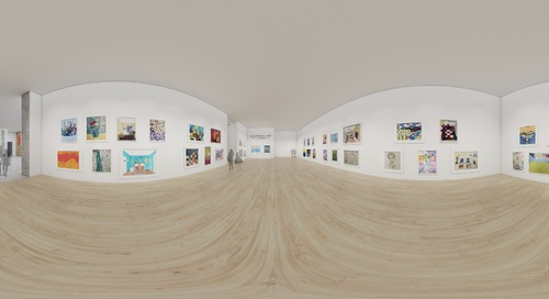 Using SketchUp to create an interactive, virtual art exhibition