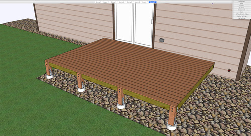 Putting SketchUp to Work: Building a Deck