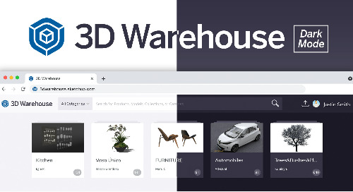 Introducing dark mode viewing for 3D Warehouse