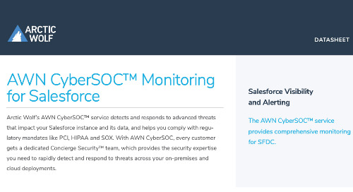 Arctic Wolf SOC-as-a-Service Monitoring for Salesforce