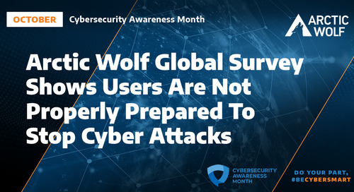 Security Awareness Month: Arctic Wolf Global Survey Shows Users Are Not Properly Prepared to Stop Cyber Attacks