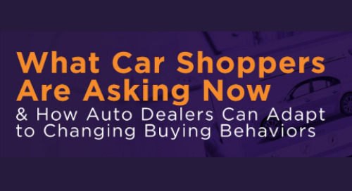 What Car Shoppers Are Asking Now & How Auto Dealers Can Adapt to Changing Buying Behaviors