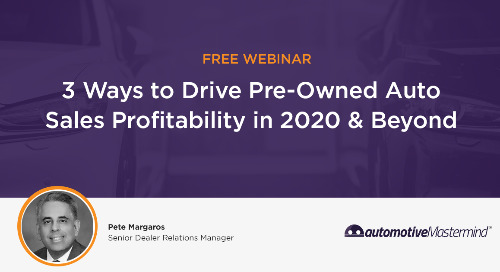 Drive Pre-Owned Sales Profitability