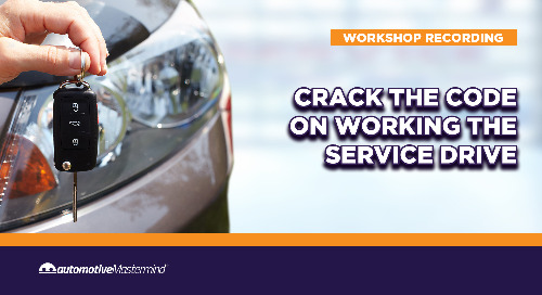 Crack the Code on Working the Service Drive: Workshop Recording
