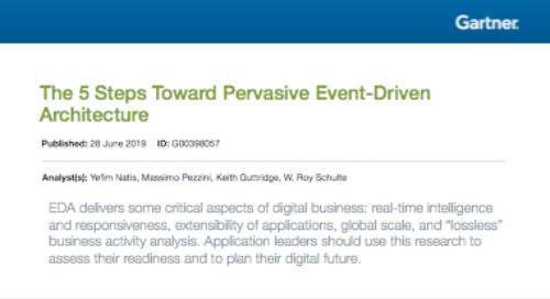 Gartner Report: The 5 Steps Toward Pervasive Event-Driven Architecture