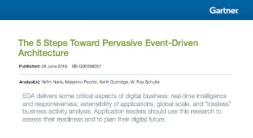 Gartner Report: The 5 Steps Toward Pervasive Event-Driven Architecture