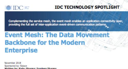 Event Mesh: The Data Movement Backbone for the Modern Enterprise