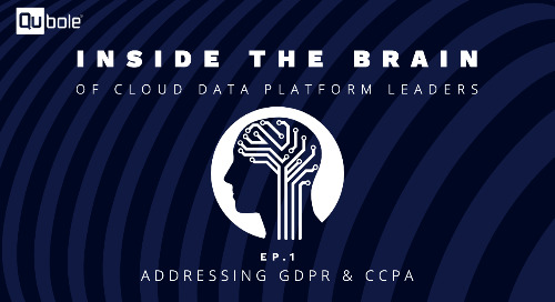 Inside the Brain of Cloud Data Platform Leaders - Ep. 1: Addressing GDPR & CCPA