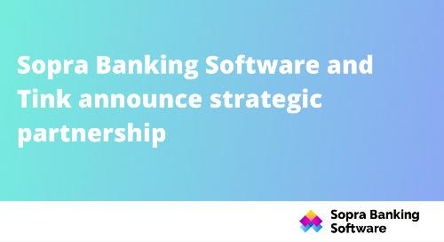Sopra Banking Software et Tink annoncent un partenariat stratégique