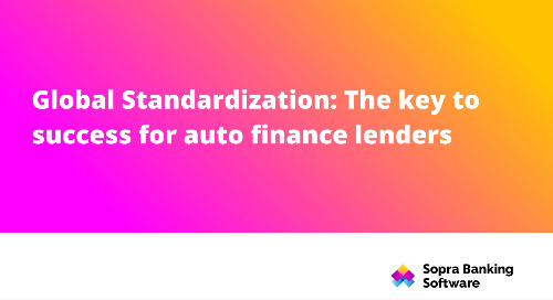 With many auto finance lenders operating on a global scale, consistency across regions has become a key success factor.