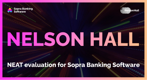NelsonHall identifies Sopra Banking as a leader in mortgage and loan services