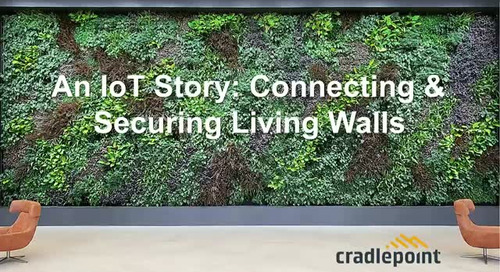 An IoT Story: Connecting & Securing Living Walls