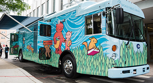 Bookmobile's LTE Upgrade Enhances Library's Ability to Serve Residents Throughout Town