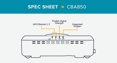 CBA850 Spec Sheet