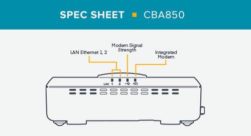 CBA850 Spec Sheet