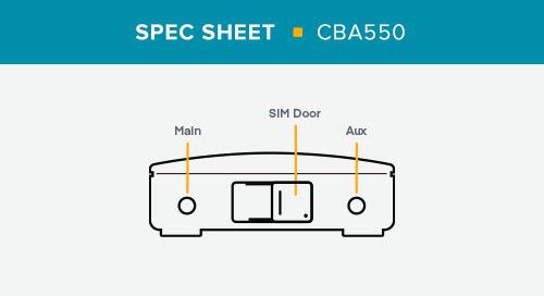 CBA550 Spec Sheet